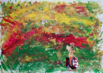 Reise ins Innere Collage, Nr. 6 von 7, 59x42 cm, 2017 (c) Doreen Trittel