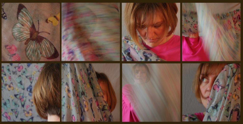 Der Weg des Schmetterlings, Fotografien, Serie, Abzüge glänz je 31x31 cm, gerahmt, 2015 (c) Doreen Trittel