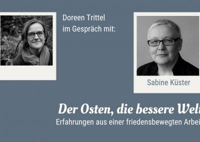 Doreen Trittel im Gespräch mit Sabine Küster, 2019
