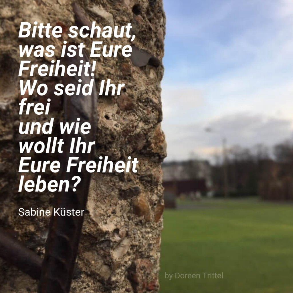 Freiheit, Zitat von Sabine Küster, 2019, by Doreen Trittel