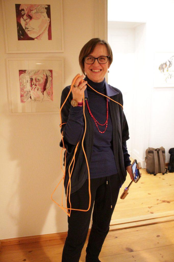 Doreen Trittel beim 19. KunstSalon, (c) Susanne Haun