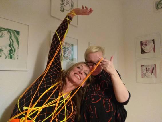 Performance-Duo Krysi Himmelfahrt und eine Muse, Foto by Doreen Trittel