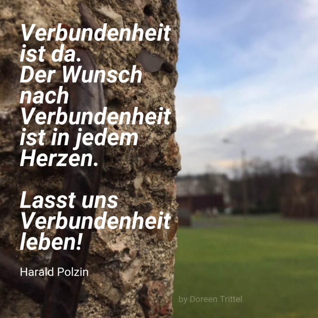Verbundenheit, Zitat von Harald Polzin, 2019, by Doreen Trittel