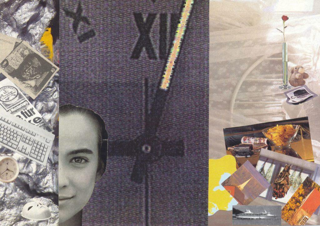 Zwei Welten, Collage, 1992, (c) Doreen Trittel