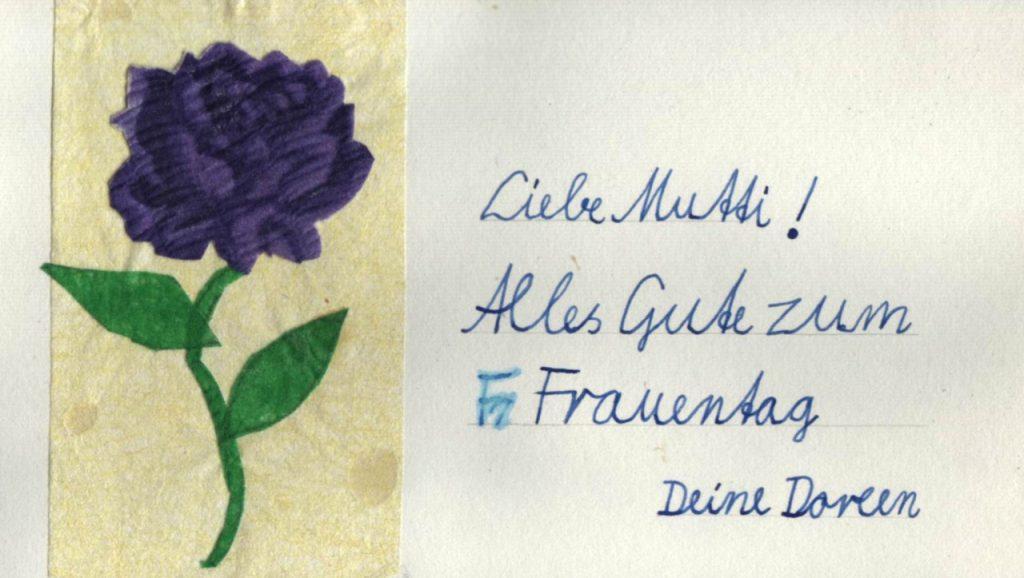 Alles Gute zum Frauentag, liebe Mutti, (c) Doreen Trittel