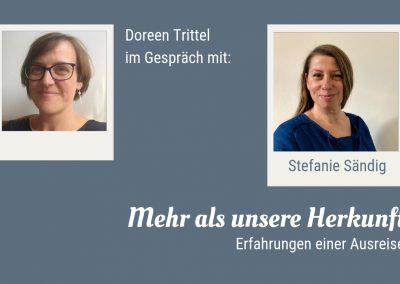 Doreen Trittel im Gespräch mit Stefanie Sändig