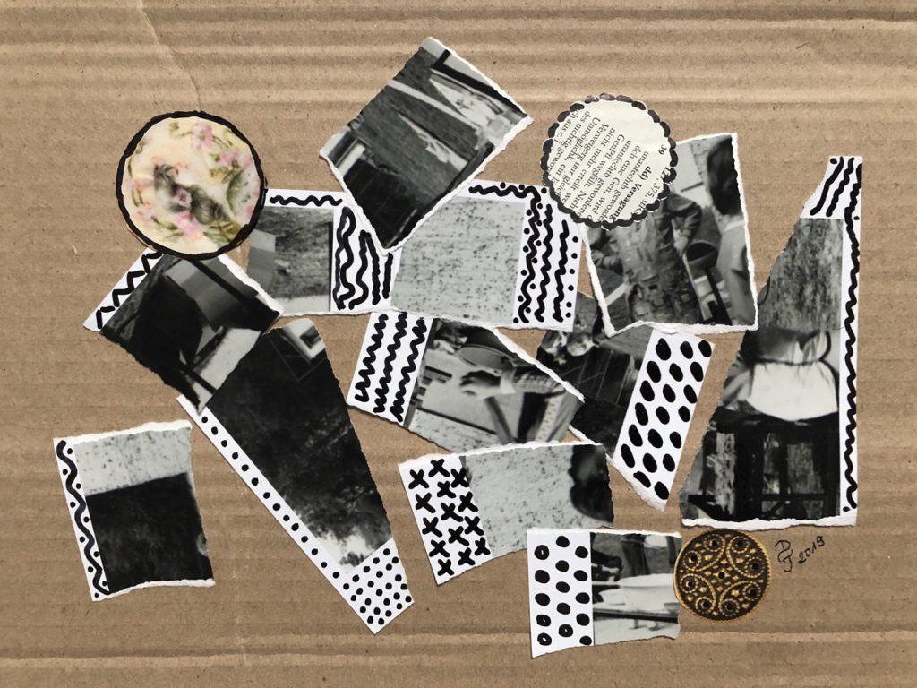 1 Collage mit alten sw Fotografien