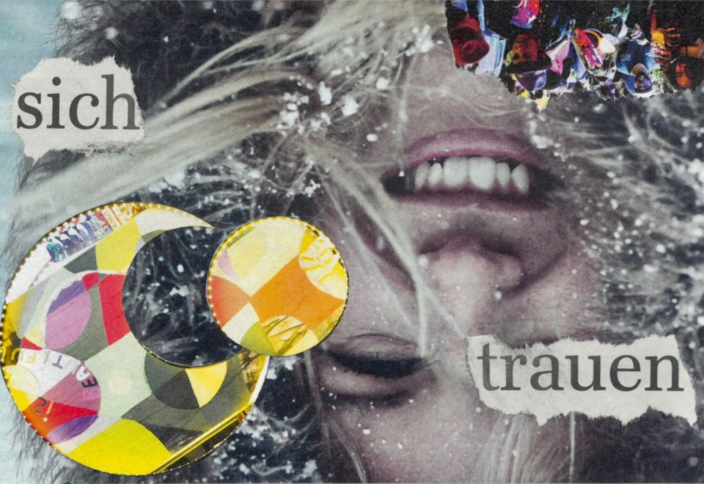 Sich trauen**, Collage, (c) Doreen Trittel