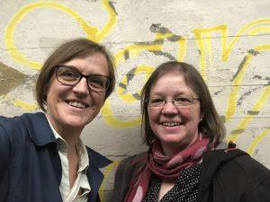 Selfie von Lucia Henke (rechts) und Doreen Trittel (links)