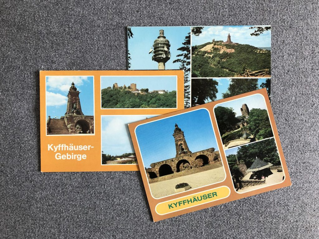 3 DDR-Postkarten vom Kyffhäuser mit Barbarossa-Denkmal
