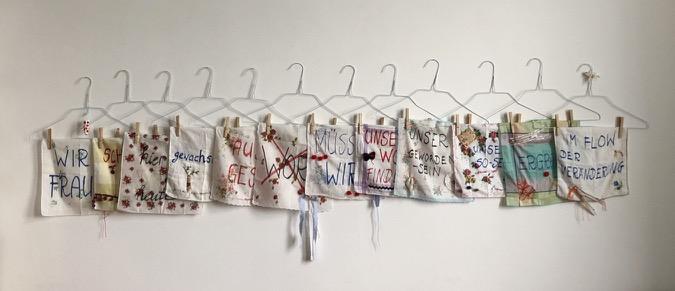 Frauen verändern, textile Installation, 2019, (c) Doreen Trittel / VG Bild-Kunst
