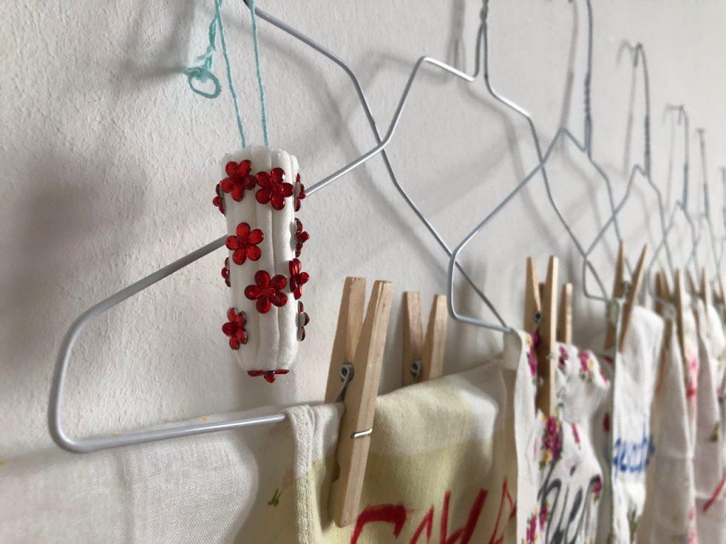 Frauen verändern, Detail, textile Installation, 2019, (c) Doreen Trittel / VG Bild-Kunst