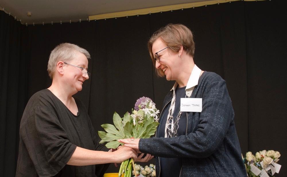 Christine Rietzke (li.) & Doreen Trittel, Frauenkultur Leipzig, Foto (c) Christiane Eisler