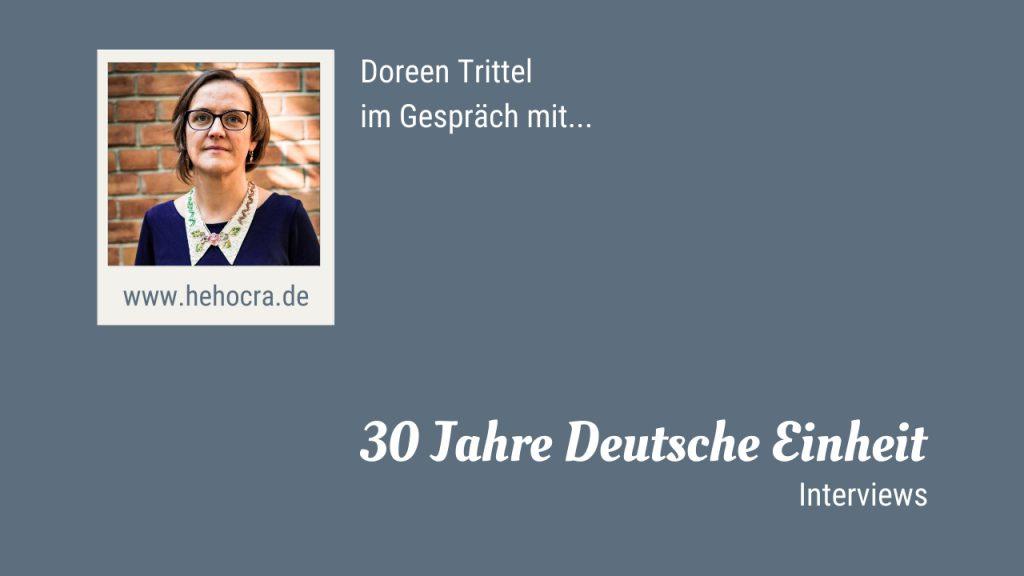 Doreen Trittel im Gespräch - 30 Jahre Deutsche Einheit