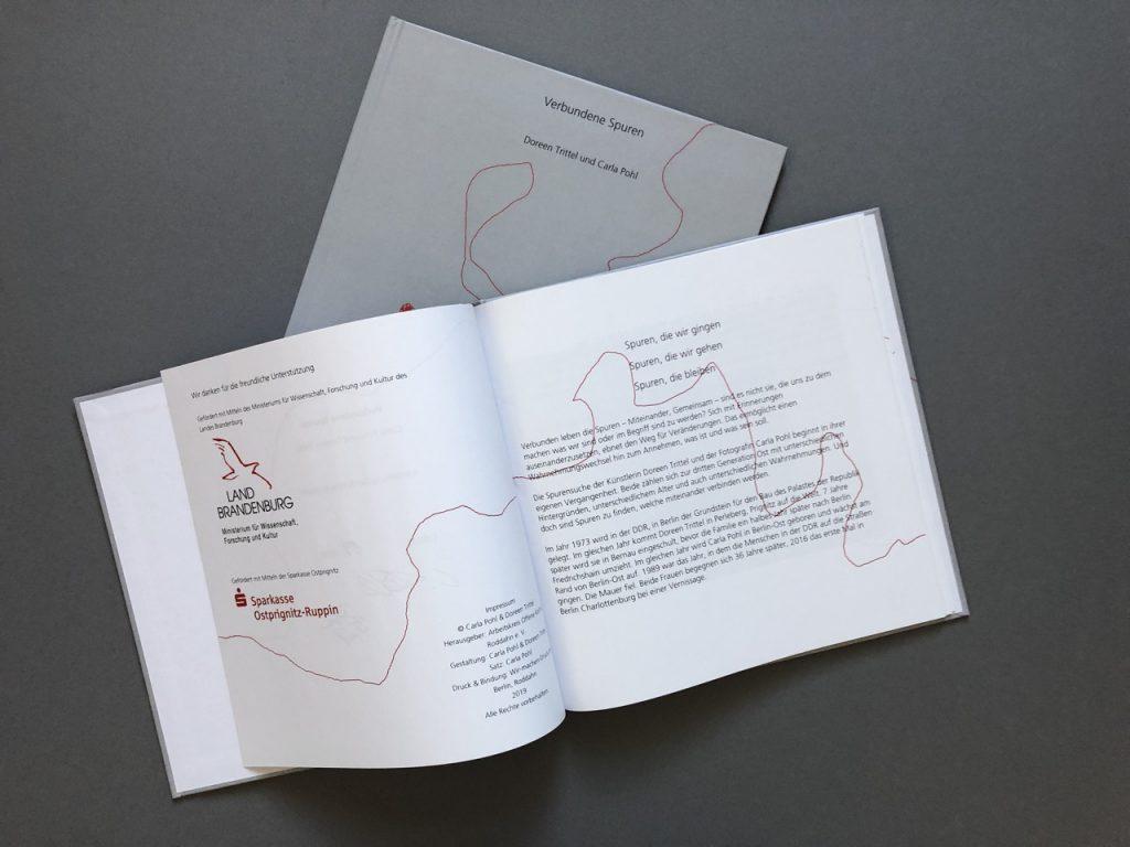 Katalog von Carla Pohl und Doreen Trittel: Verbundene Spuren