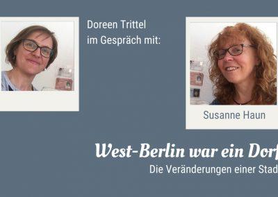 Startbild Interview mit Susanne Haun: West-Berlin war ein Dorf