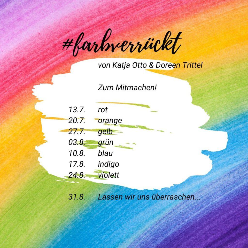 #farbverrückt - Eine Aktion zum MITMACHEN von @lieber_gluecklich und @hehocra
