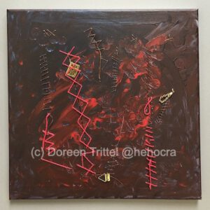 Wunden, Materialmix auf Leinwand, (c) Doreen Trittel