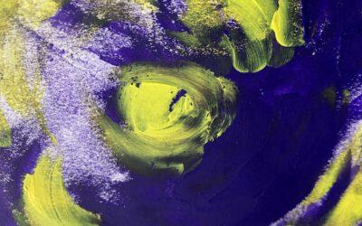 Violette Kunst – farbverrücktes aus dem Atelier