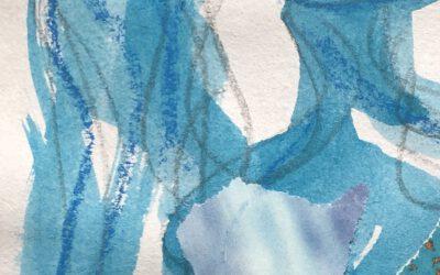 Blaue Kunst – farbverrücktes aus dem Atelier