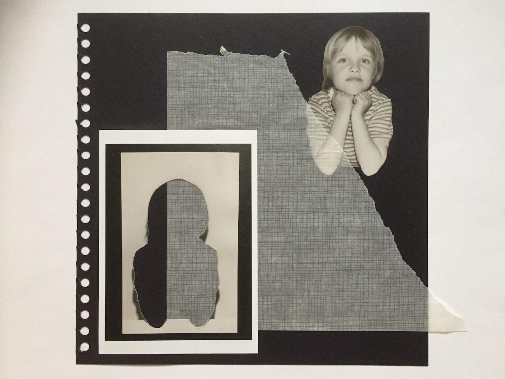 """Collage aus der Serie """"Bitte recht freundlich"""", 30x30 cm, 2018, (c) Doreen Trittel"""