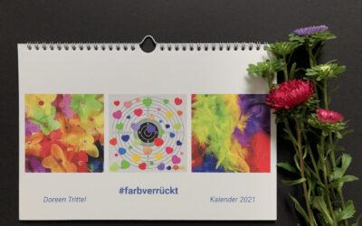 #farbverrückt – Da ist er, Dein Kunstkalender 2021
