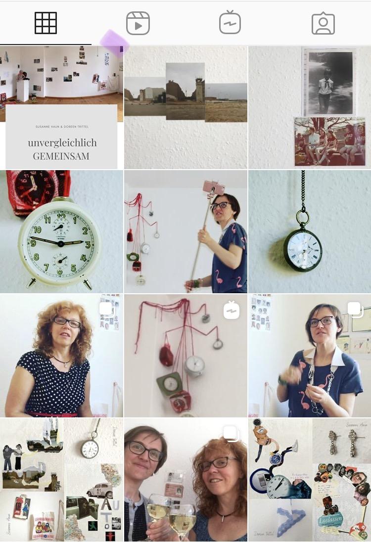 #unvergleichlichGEMEINSAM, Ausschnitt Postings bei @hehocra (Instagram), 2020, Susanne Haun und Doreen Trittel (c)