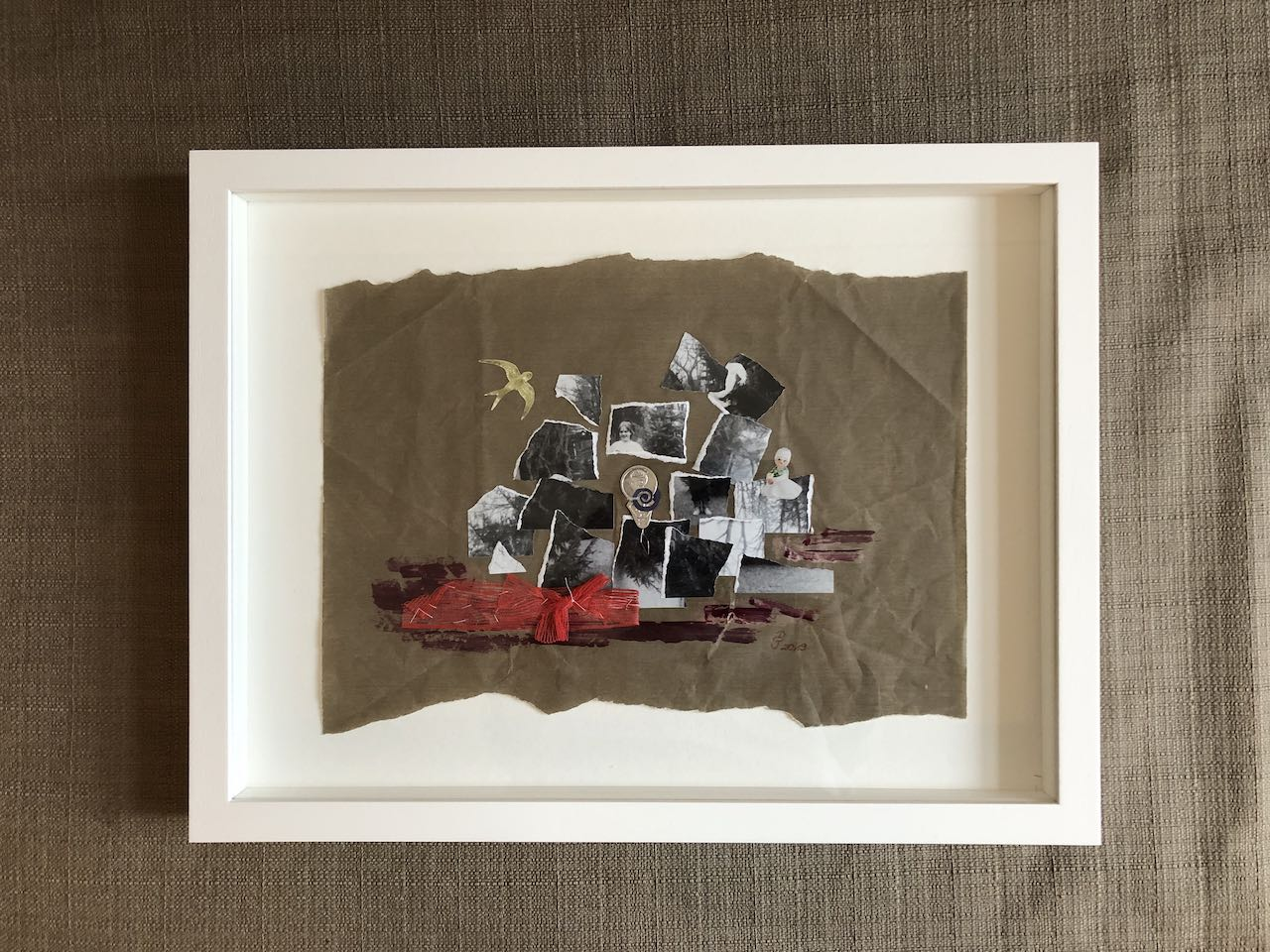 Neuordnung, Collage, Materialmix, 2019, (c) Doreen Trittel