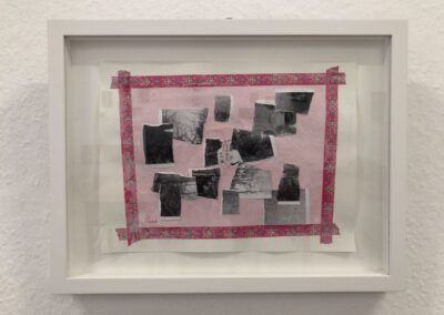 Neuordnung - fürs LIEBLINGSSHIRT Collage, Materialmix je 33 x 43 cm, 2019