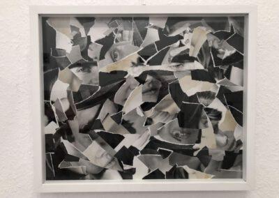 Neuordnung - in SCHWARZ-WEISS Collage, Papier 40 x 49 cm, 2016