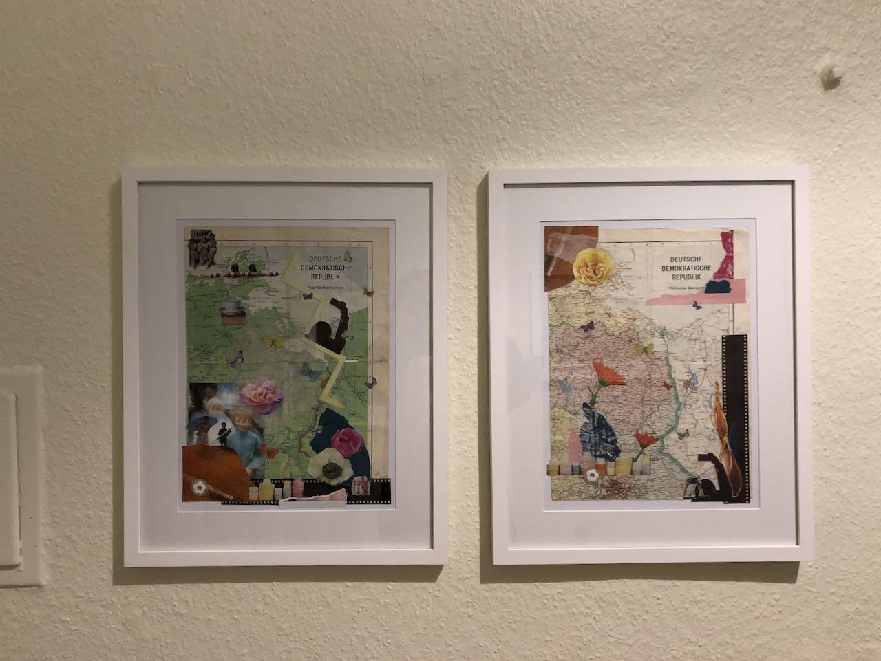 Veränderung 1 und 2 Collage, Materialmix, 2018, (c) Doreen Trittel