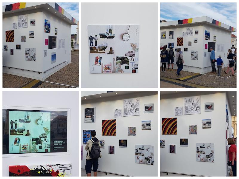 unvergleichlich GEMEINSAM bei der Galerie der Deutschen Einheit, Potsdam, 2020, (c) Susanne Haun und Doreen Trittel (Fotos privat)