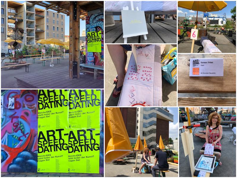Art Speed Dating, eine Aktion des Frauenmuseums beim Kunstfestival 48 Stunden Neukölln, 2021, Fotos (c) Doreen Trittel